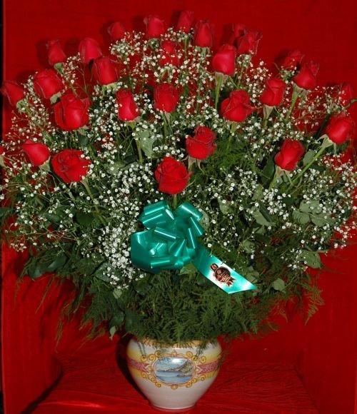 Souvent Moncada Piante, fiori e addobbi - Composizione di rose rosse TV31